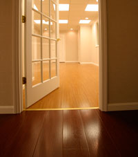 Basement Wood Flooring installed in Rome, New York