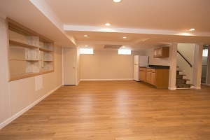 A beautiful, finished basement in Central New York